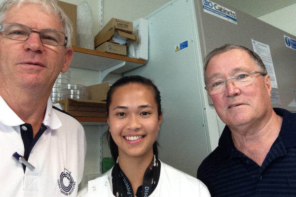 Chairman Phil, PhD student Tracy and Medical Director Rob