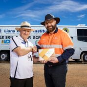 Colin with Stephen Poole, Ops Mgr Aurizon