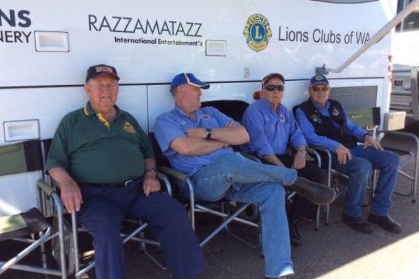 Northam Lion members enjoying the shade