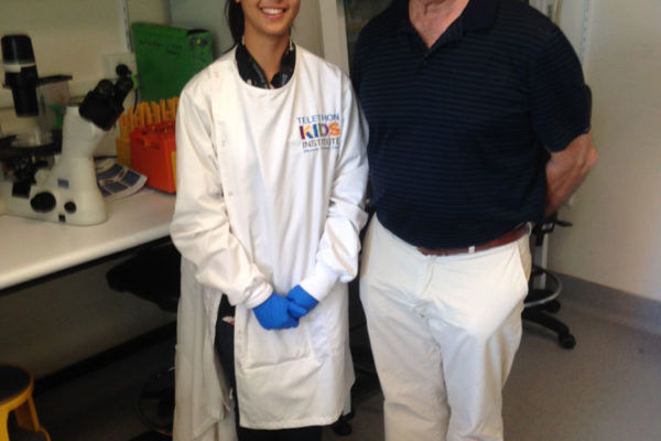 PhD student Tracy Seymour with Medical Director Rob Fitzpatrick